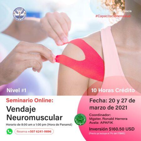SEMINARIO DE VENDAJE NEUROMUSCULAR NIVEL I