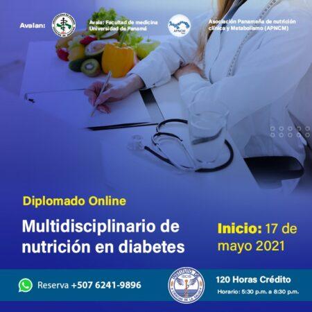 DIPLOMADO VIRTUAL MULTIDISCIPLINARIO DE NUTRICIÓN EN DIABETES