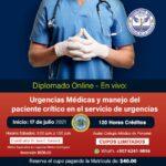 DIPLOMADO VIRTUAL DE URGENCIAS Y MANEJO DEL PACIENTE CRÍTICO EN EL SERVICIO DE URGENCIAS