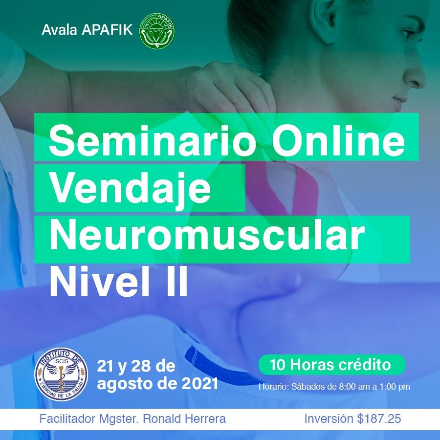 SEMINARIO VIRTUAL DE VENDAJE NEUROMUSCULAR NIVEL II
